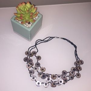 Jewelry - Multi layered blue seed beaded necklace